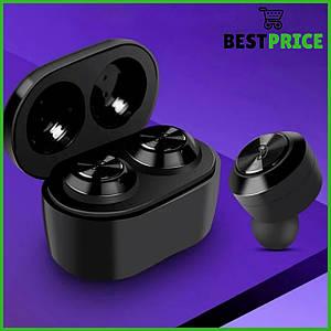 Беспроводные bluetooth наушники блютуз-гарнитура А6 Черные