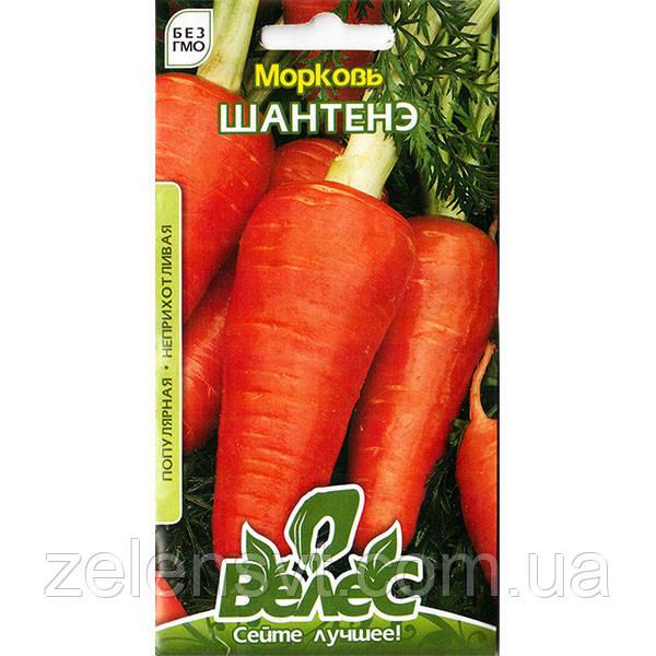 """Насіння моркви """"Шантене"""" (3/15/20 г) від ТМ """"Велес"""""""