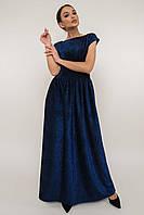 Вечернее люрексовое платье в пол Mirella (42–52р) в расцветках