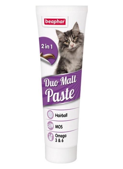 Паста для вывода шерсти из желудка для кошек Beaphar Duo Malt Paste 100 г