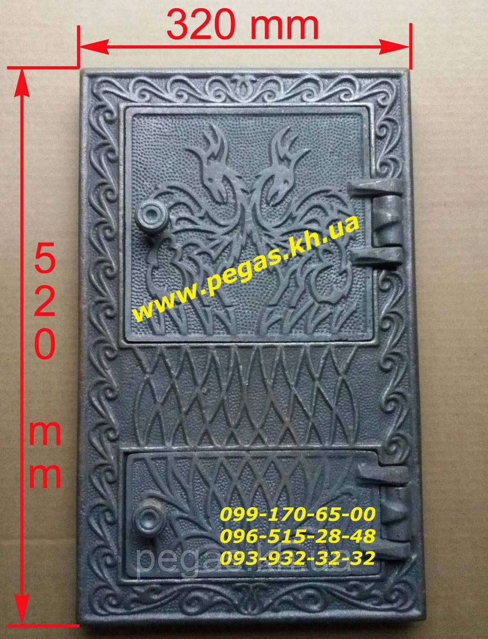 Дверка чугунная барбекю, мангал, печи, дверца Румыния №3