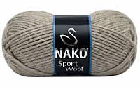 Пряжа Полушерстяная Nako Sport Wool 2167 для Ручного Вязания