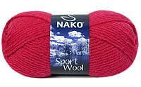 Пряжа Полушерстяная Nako Sport Wool 10116 для Ручного Вязания