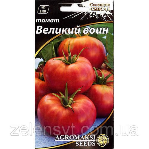 """Насіння томату """"Великий воїн"""" (0,1 г) від Agromaksi seeds"""