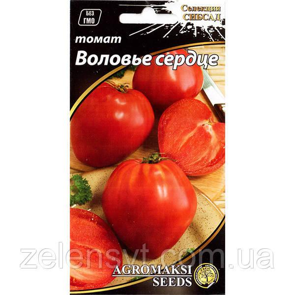 """Насіння томату """"Волове серце"""" (0,1 г) від Agromaksi seeds"""