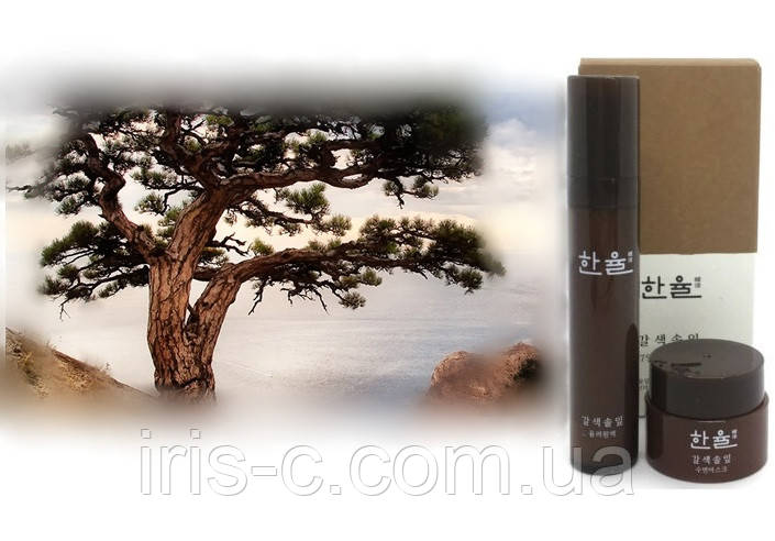 Омолаживающая сыворотка и ночная маска наборе миниатюр люкс HANYUL Brown Pine  10+5мл