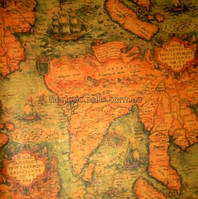 Бумага крафт 52*76 см, Карта