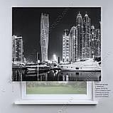 Римська фото штора Нічне місто. Безкоштовна доставка. Інд.розмір. Арт. 15-15-18, фото 2