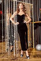 Платье бархатное , корсетное на новый год s, чёрный