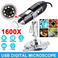 Цифровой USB микроскоп. Увеличение 1600Х. HD Digital USB Microscope