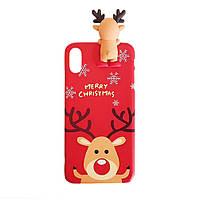 Чехол накладка xCase на iPhone XR Christmas Deer
