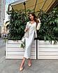 Шелковое платье комбинация миди на бретелях бежевое айвори шампань белое бельевой стиль, фото 2
