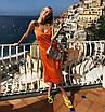 Шелковое платье комбинация миди на бретелях бежевое айвори шампань белое бельевой стиль, фото 5