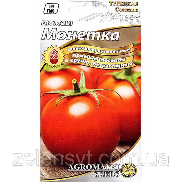 """Насіння томату """"Монетка"""" (0,4 г) від Agromaksi seeds"""