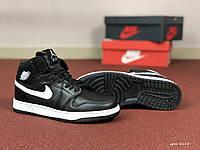 Кроссовки Nike Air Jordan 1 Retro, чёрные с белым, 36р. по стельке 22,8см