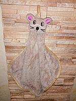 Детские полотенечка-салфетки зверюшки, микрофибра