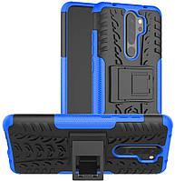Чехол Armor для Xiaomi Redmi Note 8 Pro бампер противоударный оригинальный синий