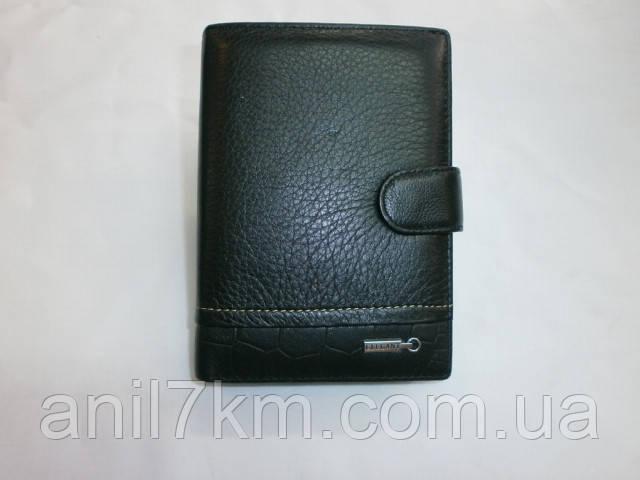Мужской кожаный кошелёк фирмы ELEGANT для денег и документов