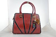 Женская красная сумка из эко кожи