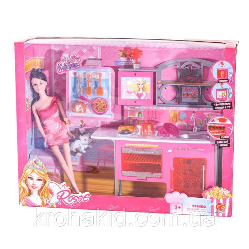 """Игровой набор """"Роскошная кухня"""" с куклой 86102 (звук, свет, кукла 27см)"""