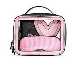 Victoria's Secret Дорожная Косметичка + Обложка для паспорта + Маска для сна + Брелок Набор Travel Set