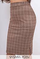Стильний повсякденний костюм з італійського трикотажу з замшевими вставками з 48 до 54 розмір, фото 4