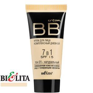 Bielita - BB Cream Крем для лица комплексный дневной 7в1 Тон 01 натуральный 30ml