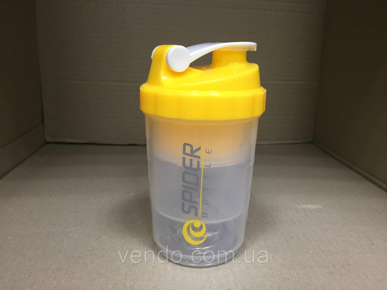 Бутылка - шейкер Spider bottle для спортивных коктейлей с поилкой 500 мл.