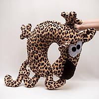 Подушка подголовник Леопард