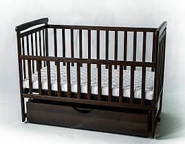 Кроватка детская трансформер KinderBox с шкафчиком Шоколад DK 11