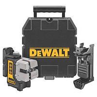 Лазер,самовырав. 3-х плоскостной (гориз+верт+бок) DeWALT, 4 бат. АА, ± 0.3мм/м, расст. 15м,чемодан., шт
