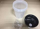 Бутылка - шейкер для спортивных коктейлей с поилкой 400 мл., фото 4