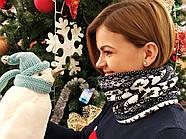 Шапка + баф Holly | Комплект зимовий | Шапка з помпоном, фото 5