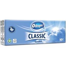 Ooops! носовые платки 3-хслойные Classic 10*10шт Sensetive