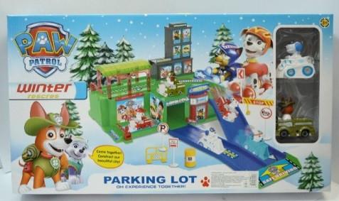 Паркинг с горкой  Щенячий патруль, Зимняя версия
