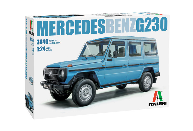 MERCEDES BENZ G230. Сборная модель легендарного немецкого внедорожника в масштабе 1/24. ITALERI 3640