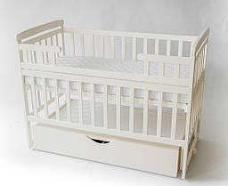 Кроватка детская трансформер KinderBox с шкафчиком Слоновая кость DK 10.