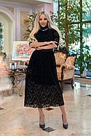 Платье / флок на сетке / Украина 40-1270, фото 1