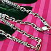 Серебряная цепь Барака - Мужская серебряная цепочка Барака, фото 7