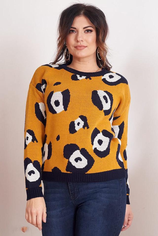 Фото Женского шерстяного свитера Лео-2 батал