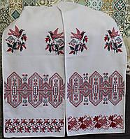 Вышитый свадебный рушник ручной работы модель И0101