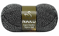 Nako Superlambs Special черно-белое мулине № 3086