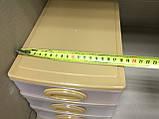 Комод мини 26х19х20 см / 3 секции / бежевый, фото 5