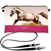 Клатч Moderika Lady розовый с рисунком Конь (44394)