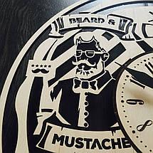 Дизайнерские настенные часы из дерева 7Arts Мужская парикмахерская CL-0005, фото 3