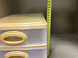 Комод мини 26х19х20 см / 3 секции / бежевый, фото 8
