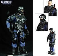 Коллекционная фигурка солдата спецназа SWAT, суставы подвижные, съемная экипировка, три вида