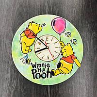 Детские цветные часы из дерева на стену 7Arts Винни Пух CL-0073