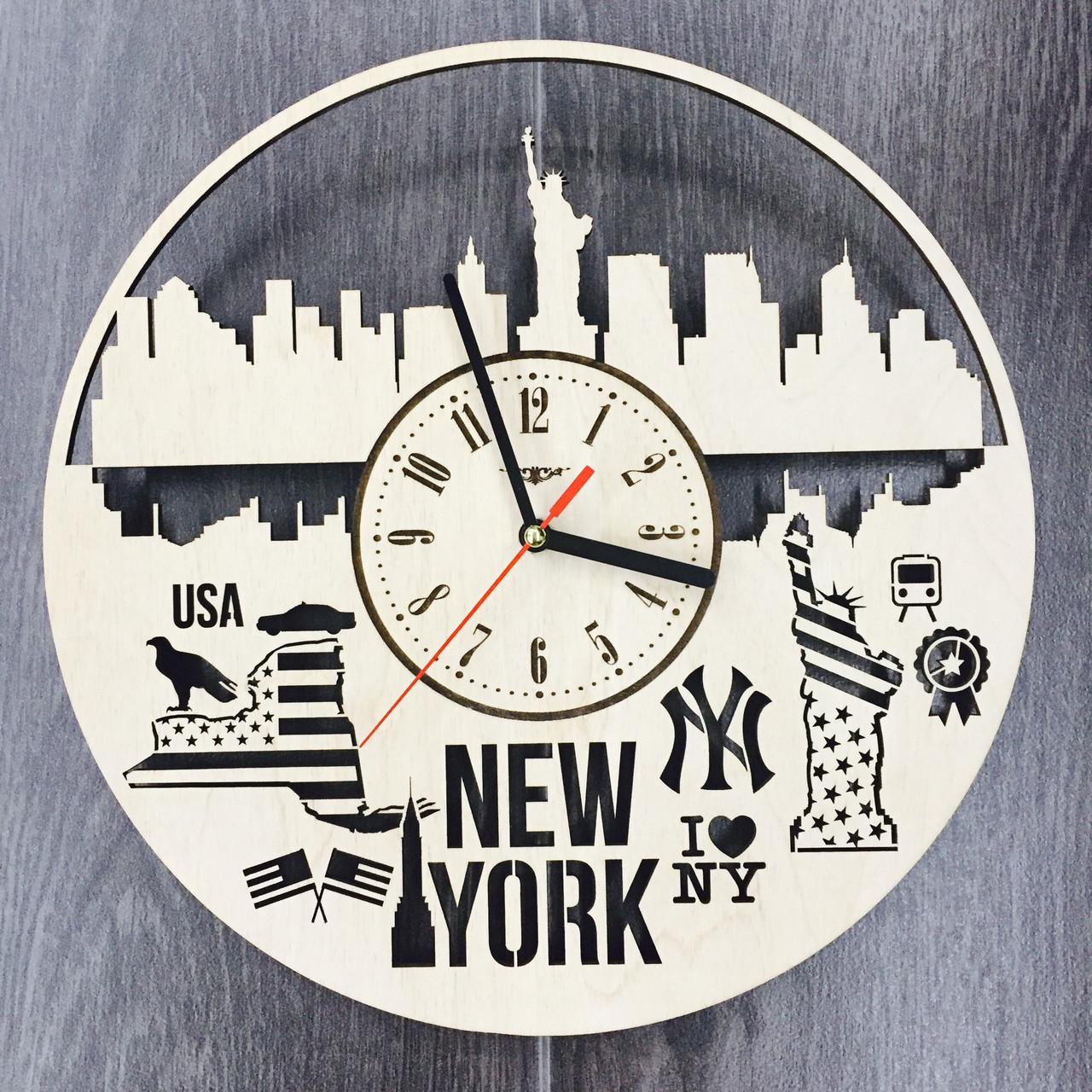 Дизайнерские часы на стену 7Arts Нью-Йорк CL-0105
