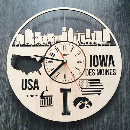 Интерьерные часы на стену 7Arts Де-Мойн, Айова CL-0111, фото 2